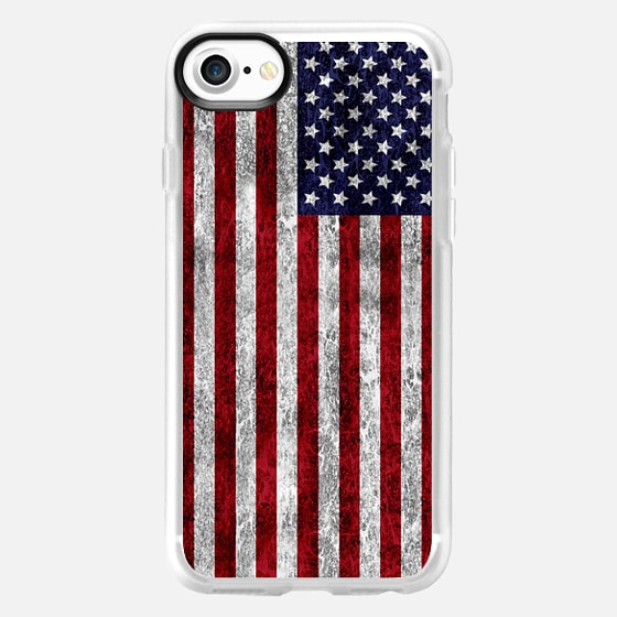 American Grunge Flag - Wallet Case