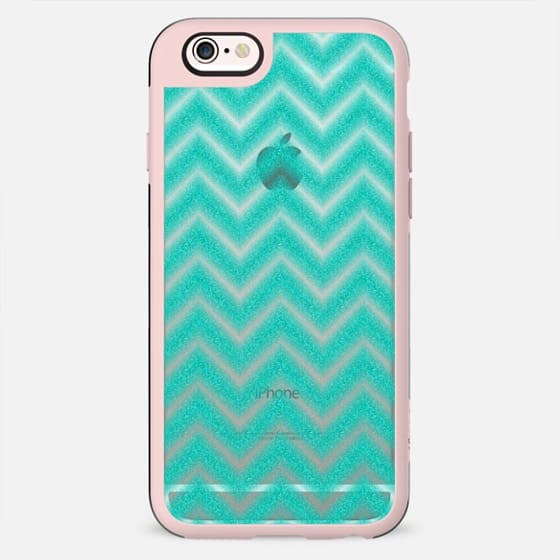 Glitter Teal Chevron Transparent - New Standard Case
