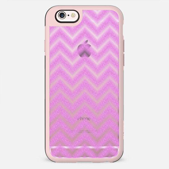 Glitter Pink Chevron Transparent - New Standard Case