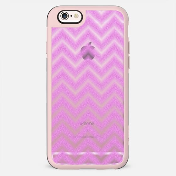 Glitter Pink Chevron Transparent