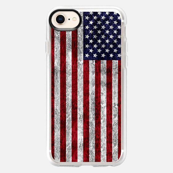 American Grunge Flag - Snap Case