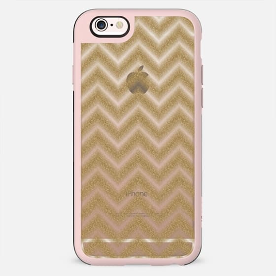 Glitter Gold Chevron Transparent