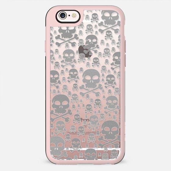 Glitter Silver Skulls Transparent - New Standard Case