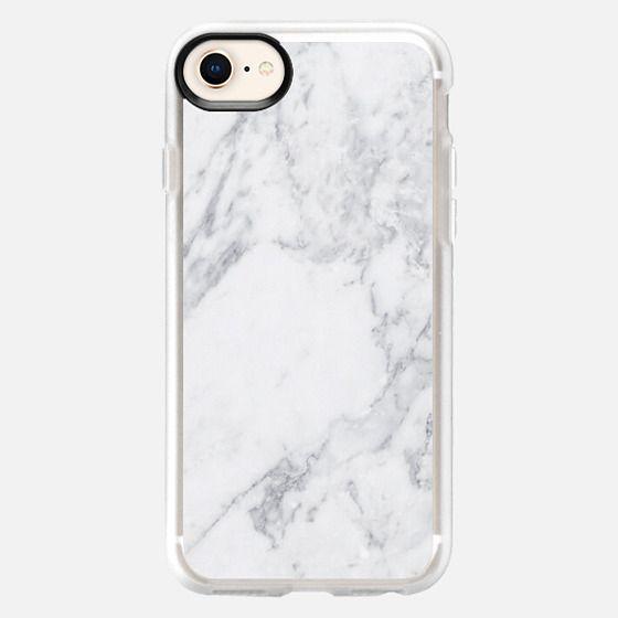 White Marble - Snap Case