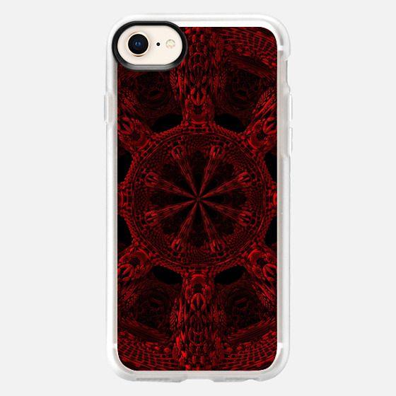 Gothic Red Mandala - Snap Case