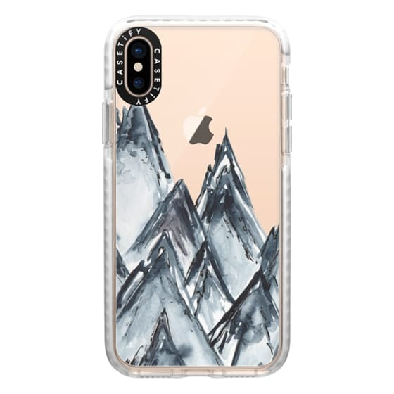 iPhone XS Cases - mountain scape