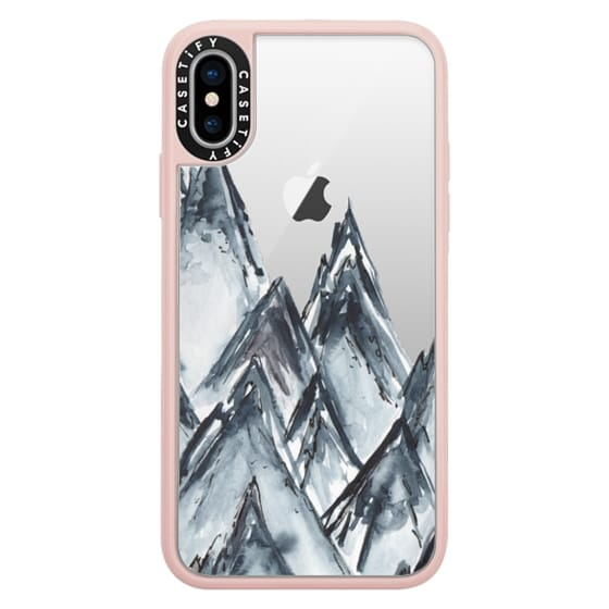 iPhone X Cases - mountain scape
