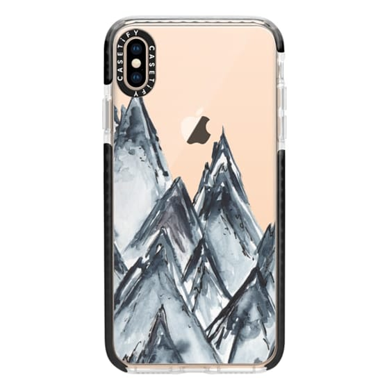 iPhone XS Max Cases - mountain scape