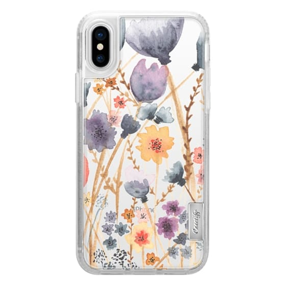 iPhone X Cases - floral field