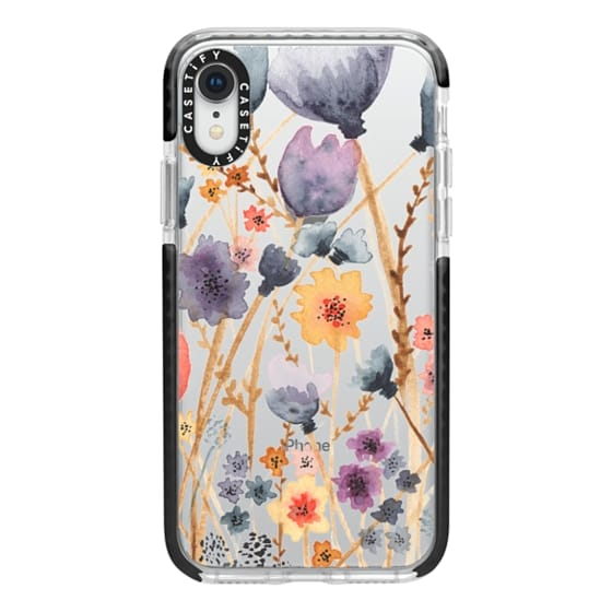 iPhone XR Cases - floral field