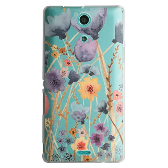 Sony Zr Cases - floral field