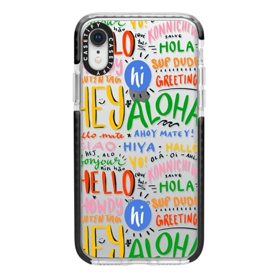iPhone XR Cases - Hello Around the World
