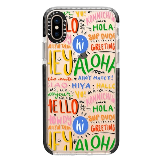 iPhone XS Cases - Hello Around the World