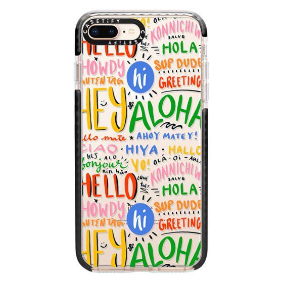 iPhone 8 Plus Cases - Hello Around the World