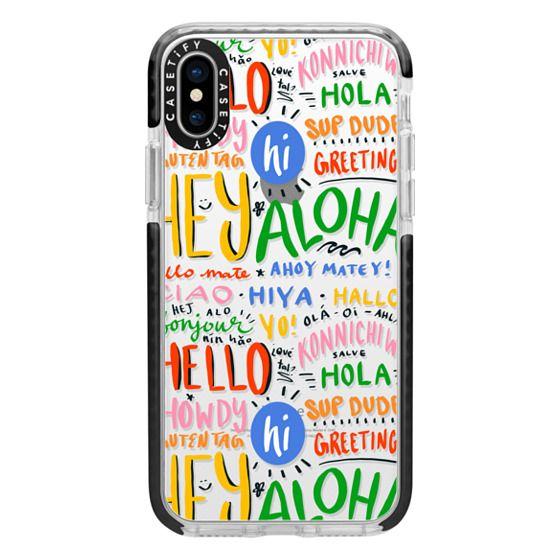 iPhone X Cases - Hello Around the World