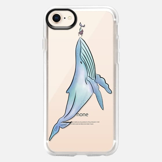 Whale Meets Mermaid - Snap Case
