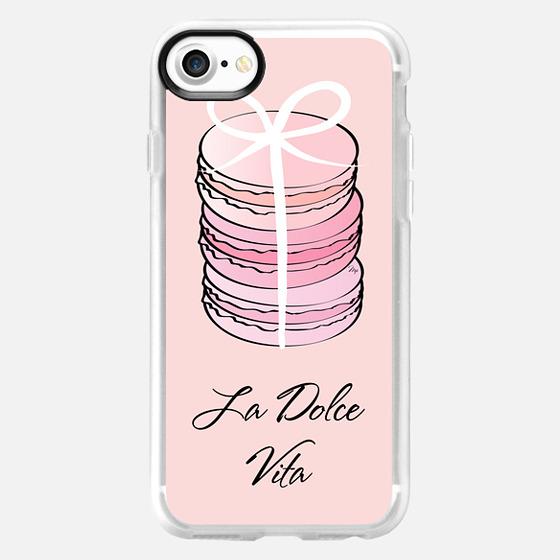 Pink Macaron Dolce Vita - Wallet Case