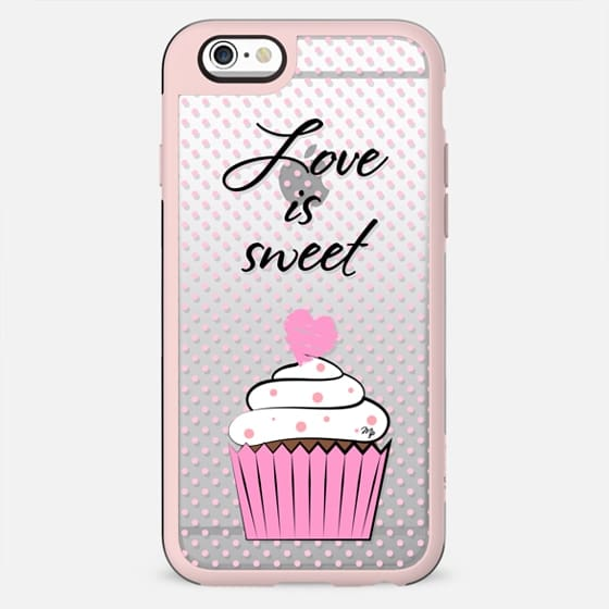 Love is Sweet Transparent - New Standard Case