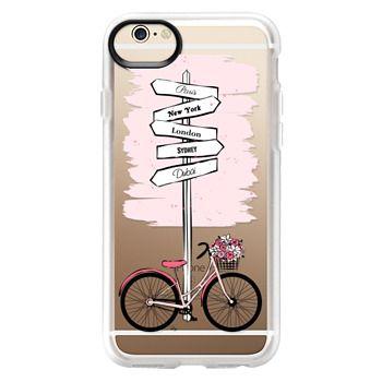 Grip iPhone 6 Case - Pink Bike Travels