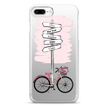 Snap iPhone 7 Plus Case - Pink Bike Travels