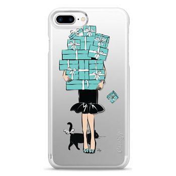 Snap iPhone 7 Plus Case - Tiffany's Blue Boxes Girl (Light Skin) Fashion illustration Transparent Case