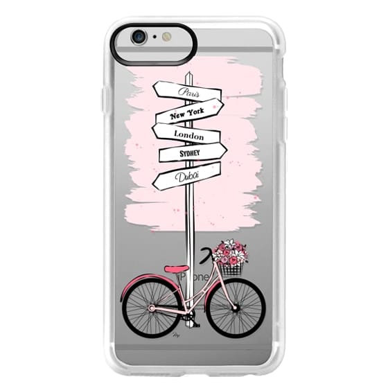 iPhone 6 Plus Cases - Pink Bike Travels