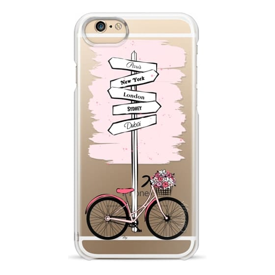 iPhone 4 Cases - Pink Bike Travels