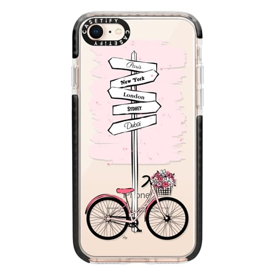 iPhone 8 Cases - Pink Bike Travels