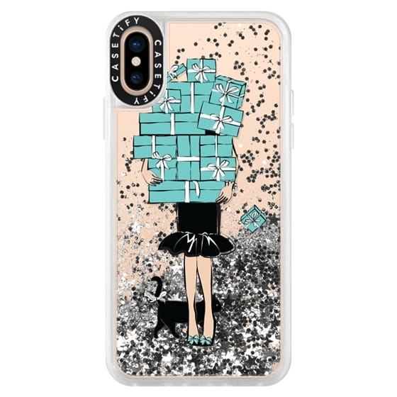 iPhone XS Cases - Tiffany's Blue Boxes Girl (Light Skin) Fashion illustration Transparent Case