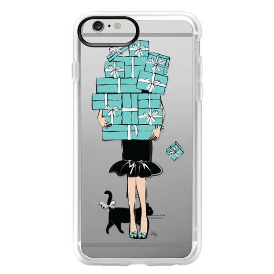 iPhone 6 Plus Cases - Tiffany's Blue Boxes Girl (Light Skin) Fashion illustration Transparent Case