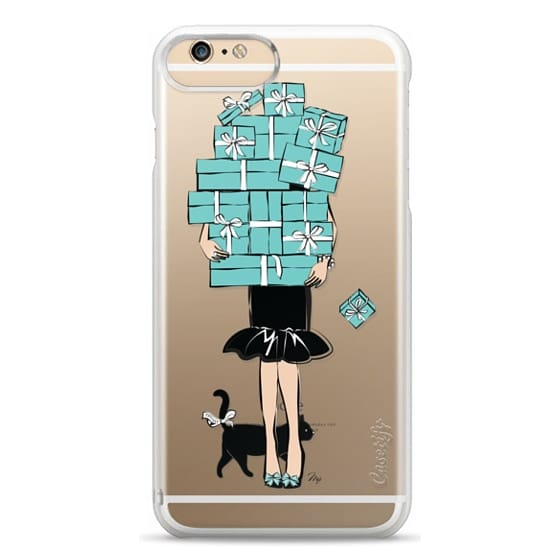 iPhone 6 Plus Cases - Tiffany's Blue Boxes Girl (Light Skin) Fashion illustration Transparent Case