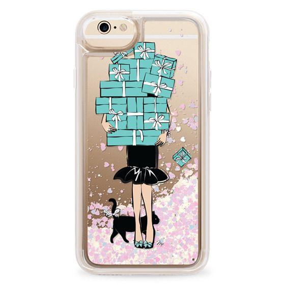 iPhone 6 Cases - Tiffany's Blue Boxes Girl (Light Skin) Fashion illustration Transparent Case