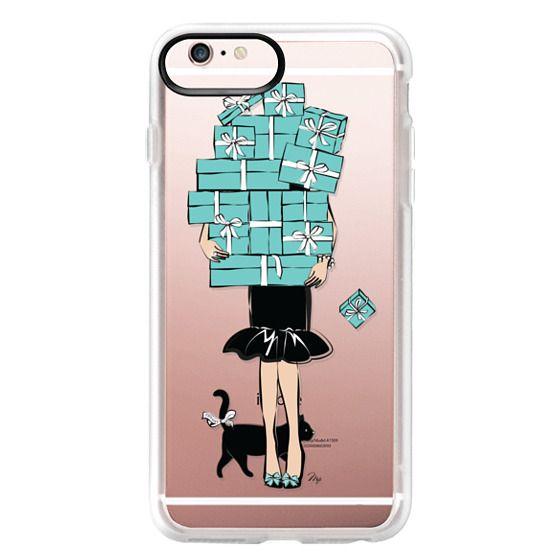 iPhone 6s Plus Cases - Tiffany's Blue Boxes Girl (Light Skin) Fashion illustration Transparent Case