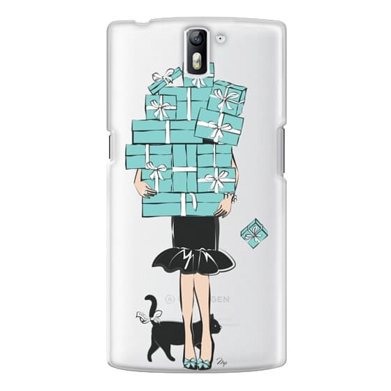 One Plus One Cases - Tiffany's Blue Boxes Girl (Light Skin) Fashion illustration Transparent Case