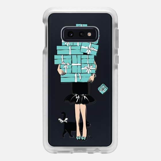 Samsung Galaxy / LG / HTC / Nexus Phone Case - Tiffany's Blue Boxes Girl (Light Skin) Fashion illustration Transparent Case