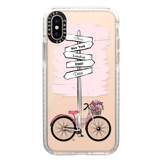 iPhone XS Cases - Pink Bike Travels