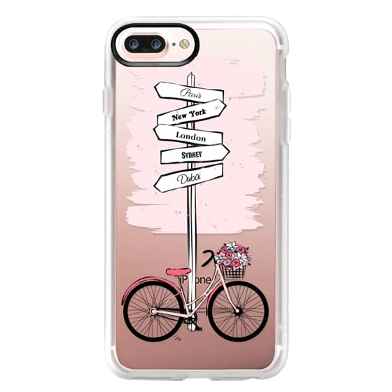 iPhone 7 Plus Cases - Pink Bike Travels