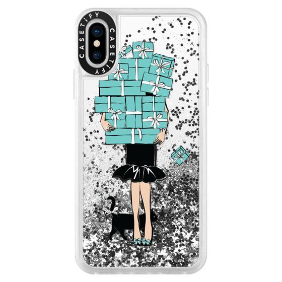iPhone X Cases - Tiffany's Blue Boxes Girl (Light Skin) Fashion illustration Transparent Case