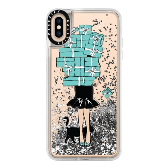 iPhone XS Max Cases - Tiffany's Blue Boxes Girl (Light Skin) Fashion illustration Transparent Case