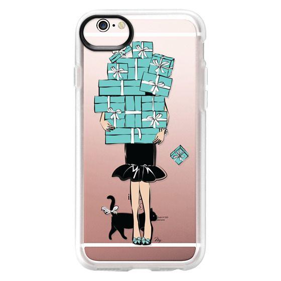 iPhone 6s Cases - Tiffany's Blue Boxes Girl (Light Skin) Fashion illustration Transparent Case