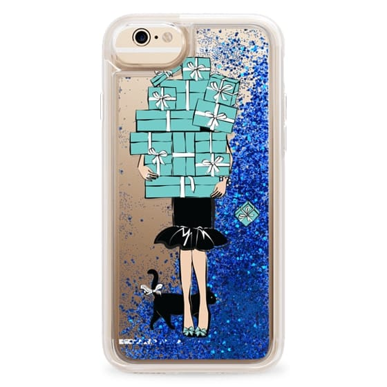 iPhone 6s Cases - Tiffany's Blue Boxes Girl (Light Skin) Fashion illustration Transparent Case