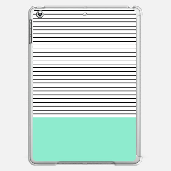 Mint and stripes - Classic Snap Case