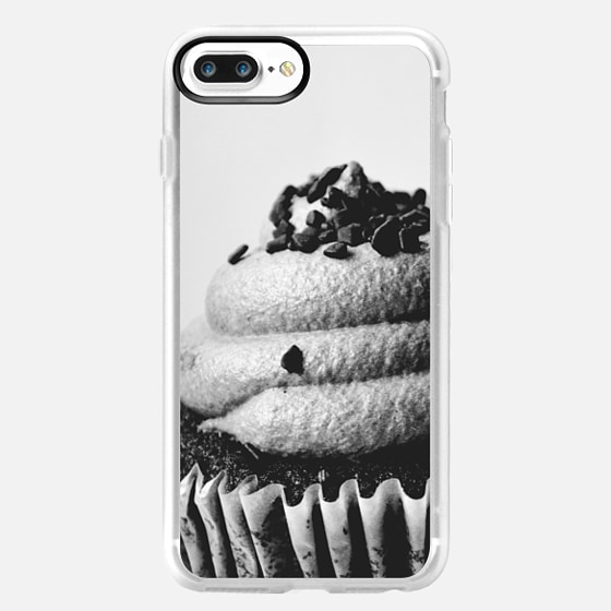 Black and white cupcake -