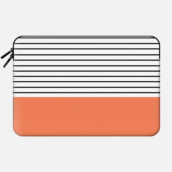 Minimal Stripes - Orange - Macbook Sleeve