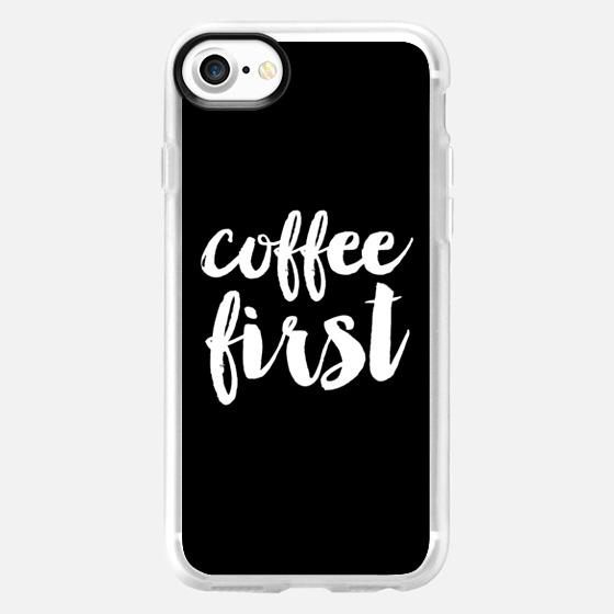 coffee first - Black - Wallet Case