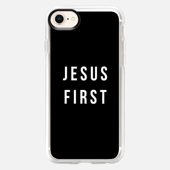 Jesus First Black and white - Snap Case