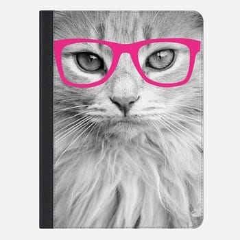 "iPad Pro 9.7"" Case Hippest Cat Pink"