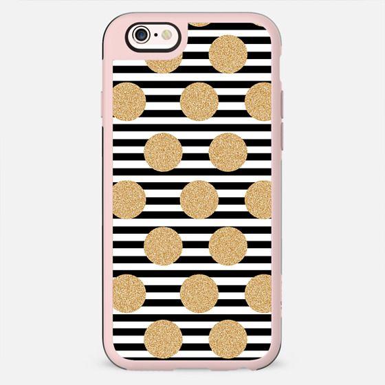Glitter Dots and Black Stripes - New Standard Case