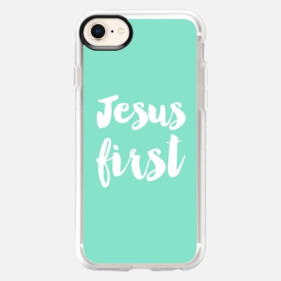 Jesus First - mint - Snap Case