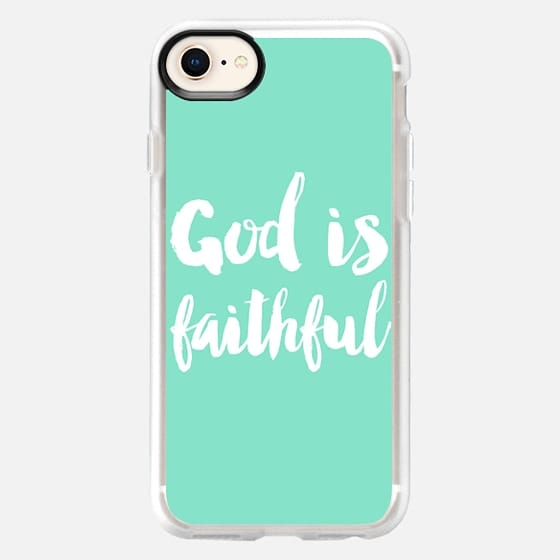 God is faithful - mint - Snap Case